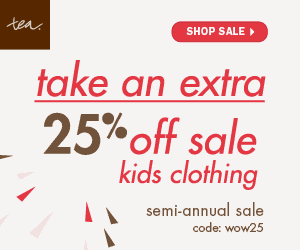 Tea Collection Extra 25% off children's clothing