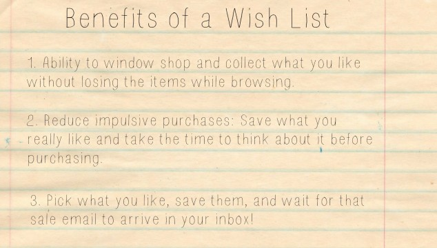 Online Shopping: The Wish List