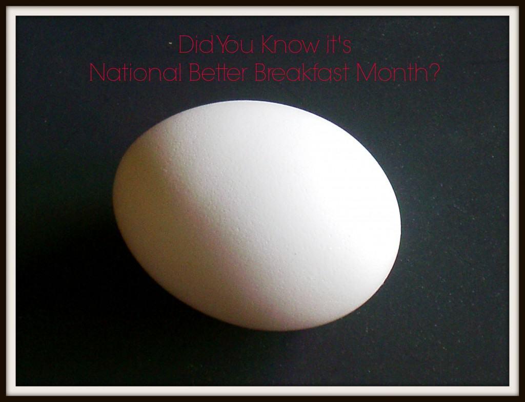 national better breakfast month
