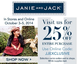 Janie and Jack 25% Friends and Family Discount