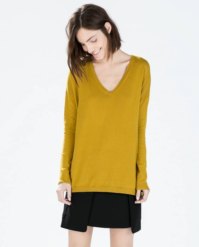 zara oversized v neck sweater
