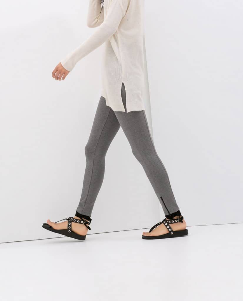 zara zippered leggings