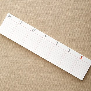 container store weekly calendar sticky notes