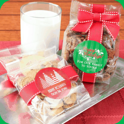 holiday cookie favor bags beau coup