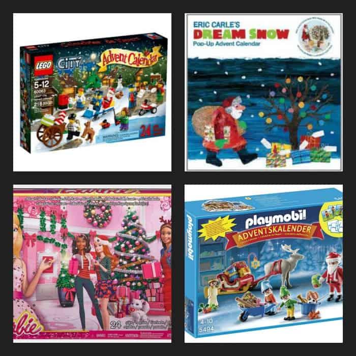 kids advent calendar collage