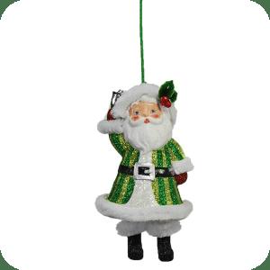 santa with dangling legs