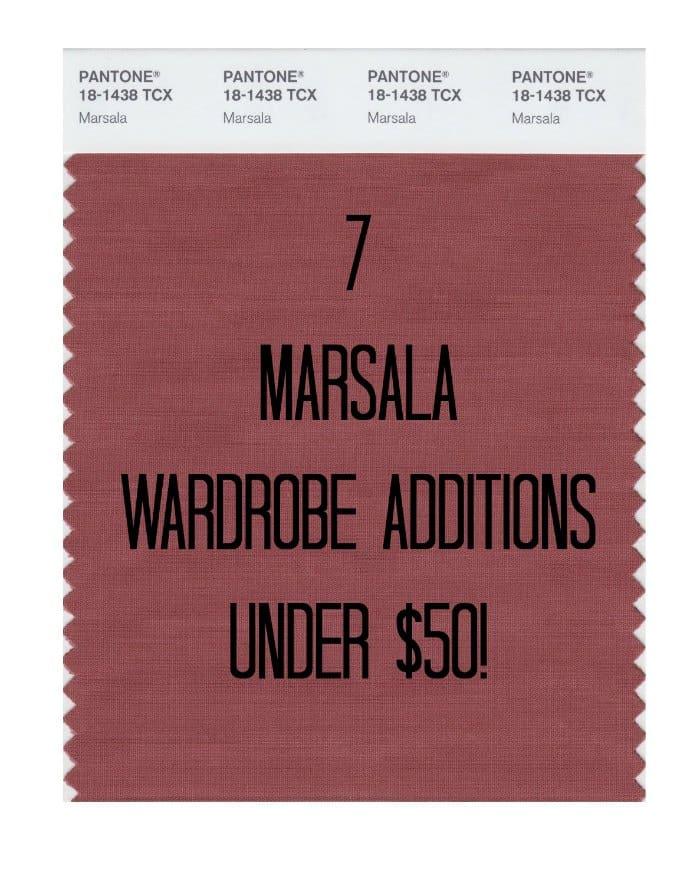 7 marsala wardrobe additions under 50