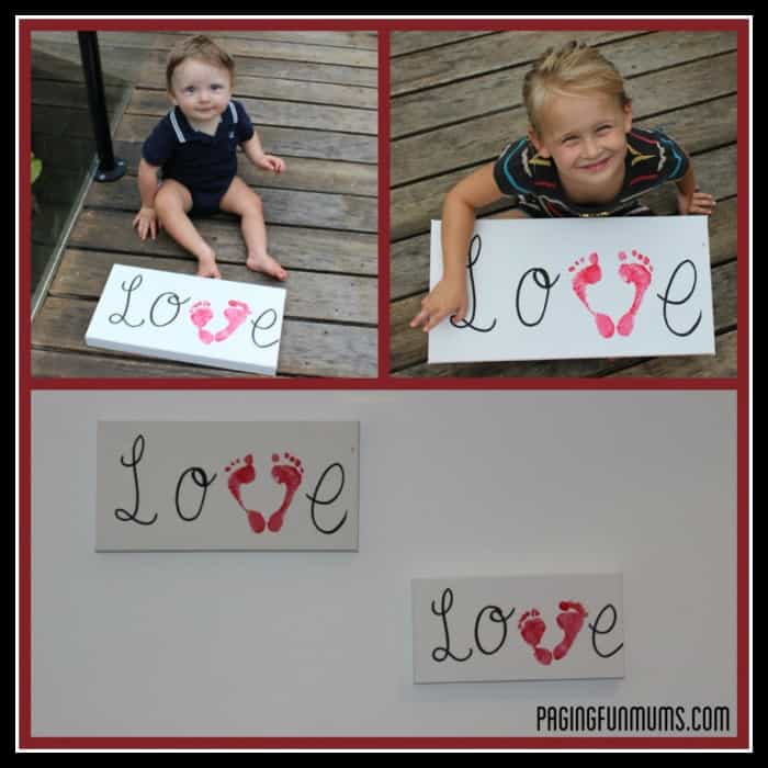 Valentine's Day Footprints by Paging Fun Mums