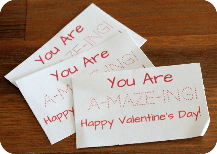 Valentines Day card tags