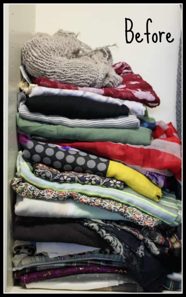 before scarf organization