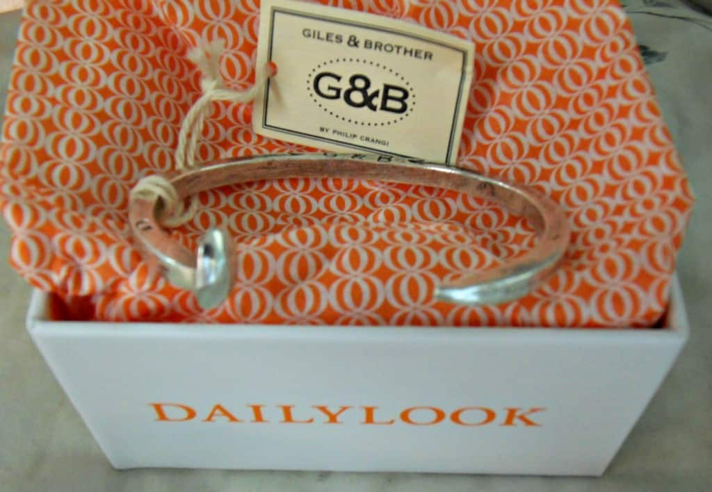 Daily Look Elite Giles and Brother by Philip Crangi Skinny Railroad Spike Cuff Bracelet