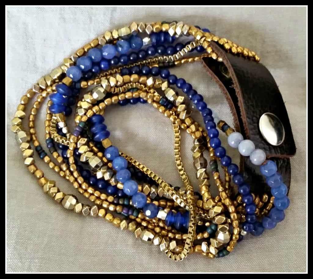 Rocksbox Nakamol Layered Chain Wrap Bracelet in Navy