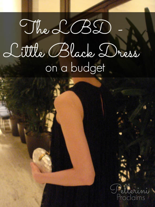 The LBD – Little Black Dress – on a Budget!