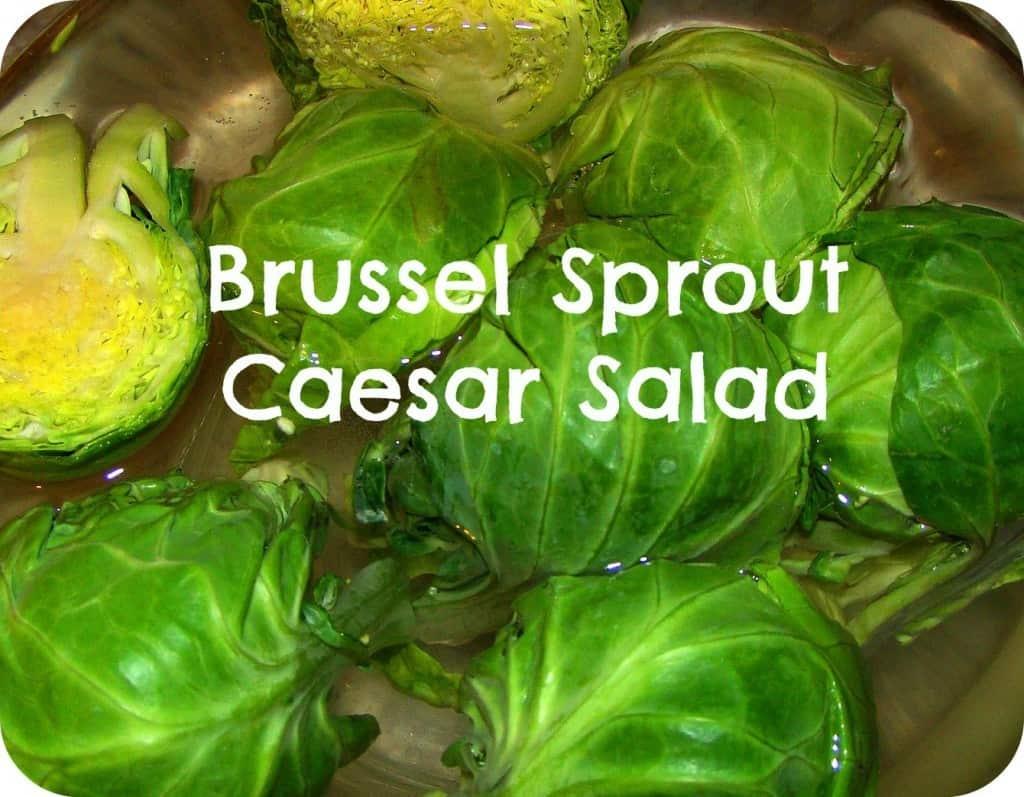 Brussel Sprout Caesar Salad via Pellerini Proclaims