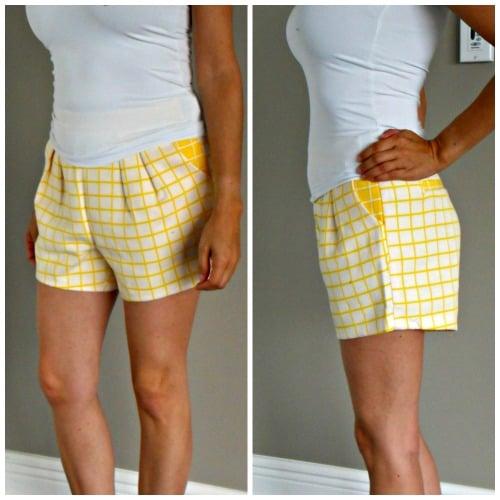 DAILYLOOK Grid Print Shorts