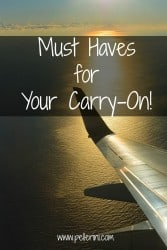 Must Haves for Your Carry On