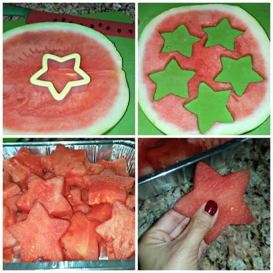 Patriotic Fruit Salad Collage