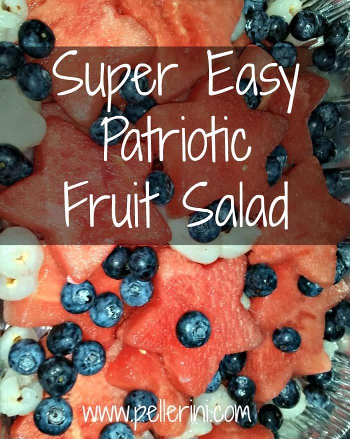 Super Easy Patriotic Fruit Salad