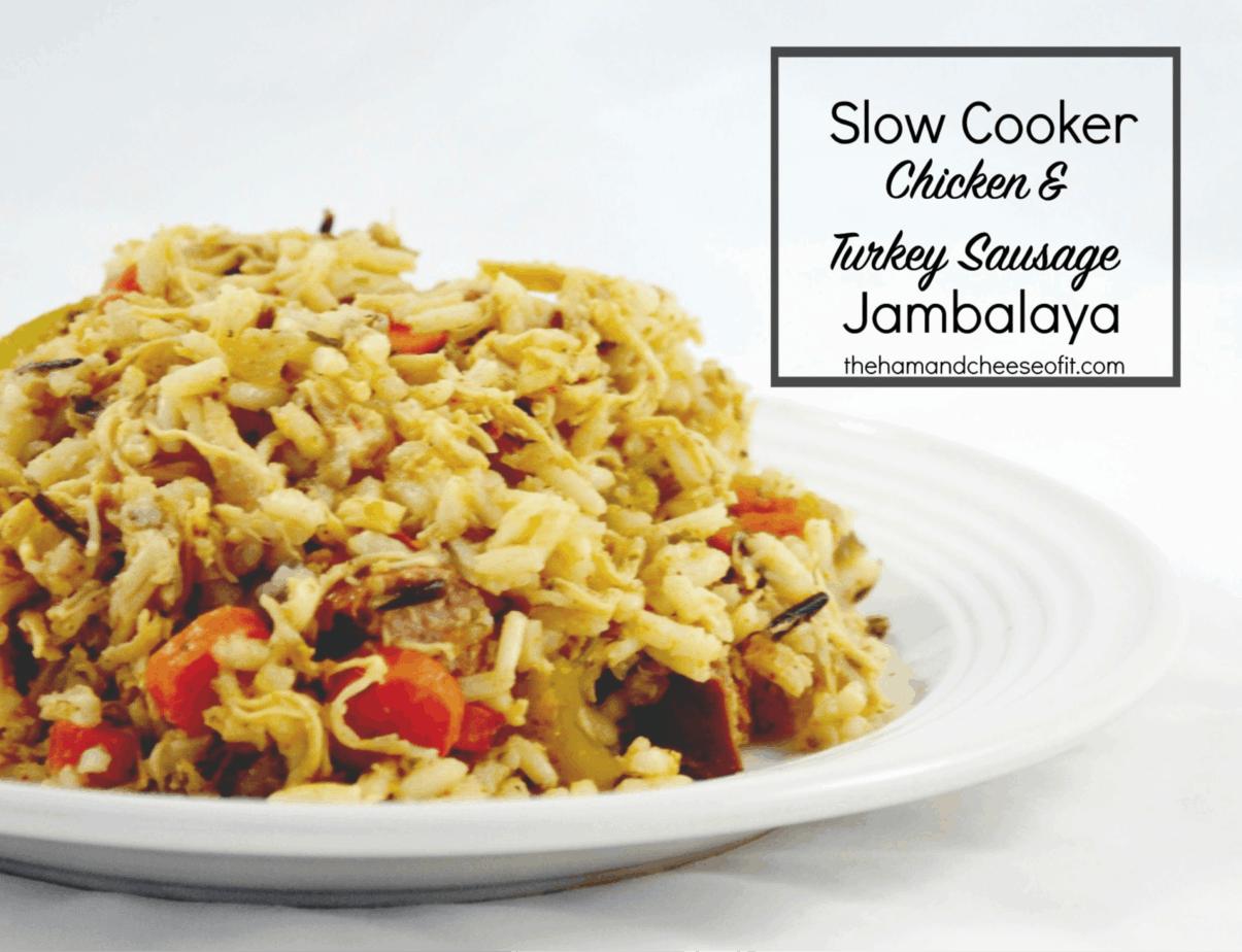 Slow Cooker Chicken & Turkey Sausage Jambalaya