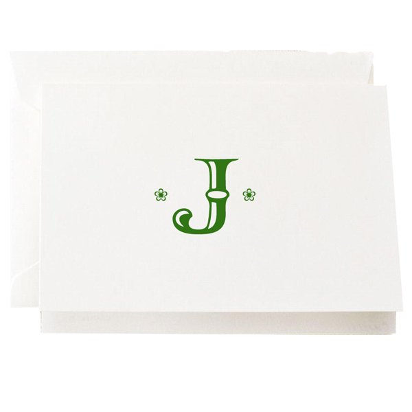 Crane and Company Initial Note Card