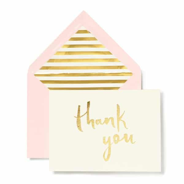 Kate Spade Paintbrush Thank You Card