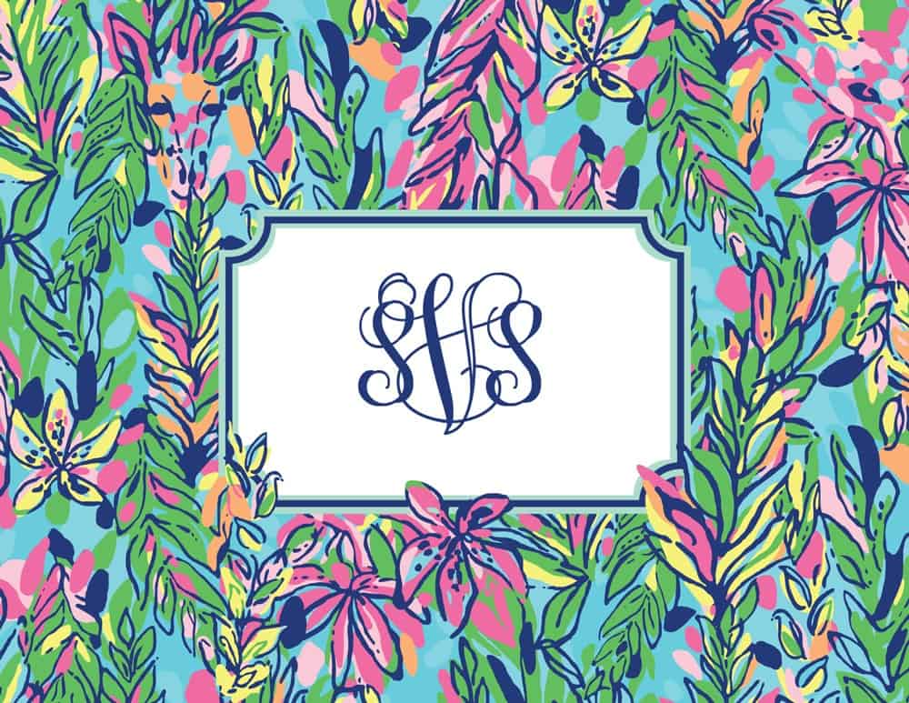 Lilly Pulitzer Monogrammed Notecard