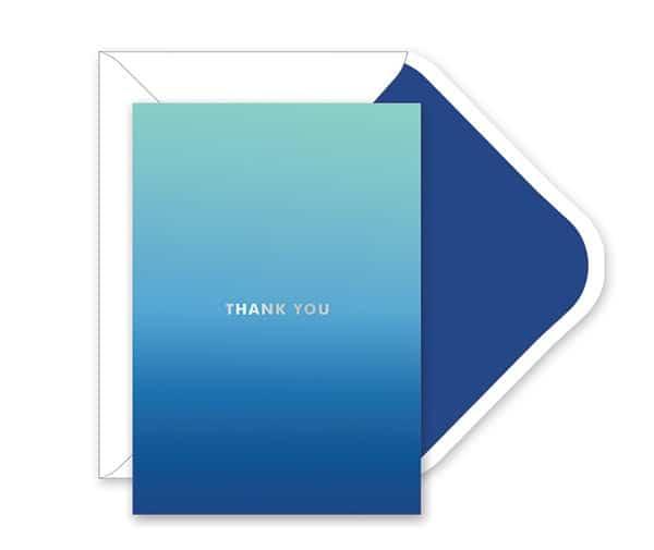 Navy Ombre Thank You Card