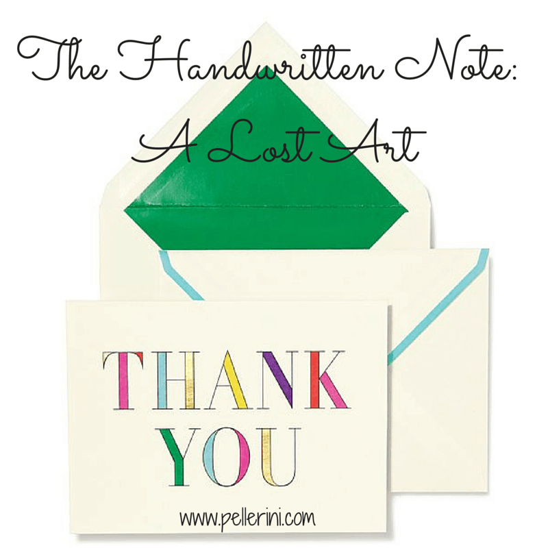 The Handwritten Note – A Lost Art