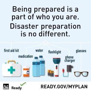 disaster preparation infograph