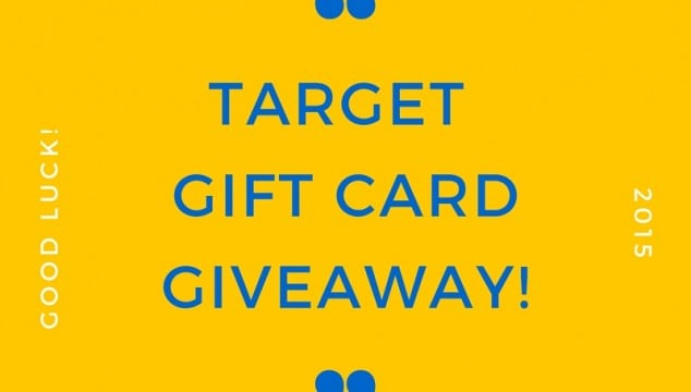 GIVEAWAY: Who Wants a Target Gift Card?!