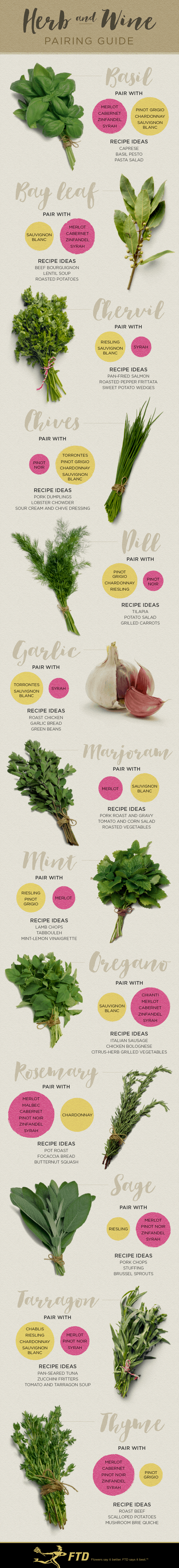 A Pairing Guide: The Best Wines For The Herbs You Cook With!