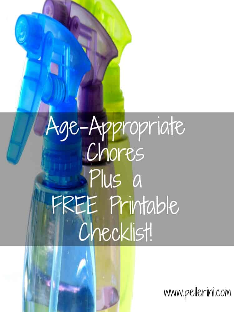 Age Appropriate Chores Plus a FREE Printable Checklist