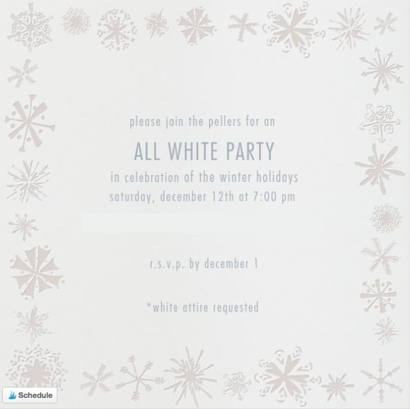 Paperless Post All White Party Invote