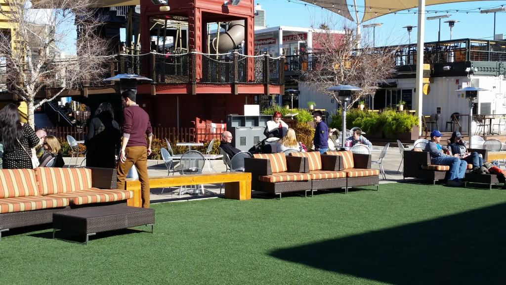 Container Park view of the play area