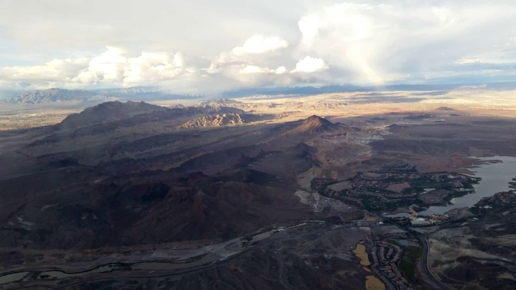 what to do in Las Vegas, View from Flight to Vegas 2