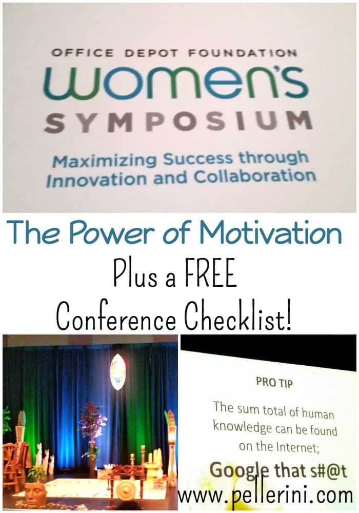 The Power of Motivation and a FREE Conference Checklist!