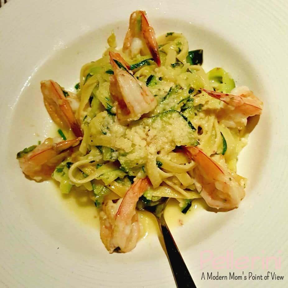 CPK Shrimp Scampi Zucchini Fettuccine