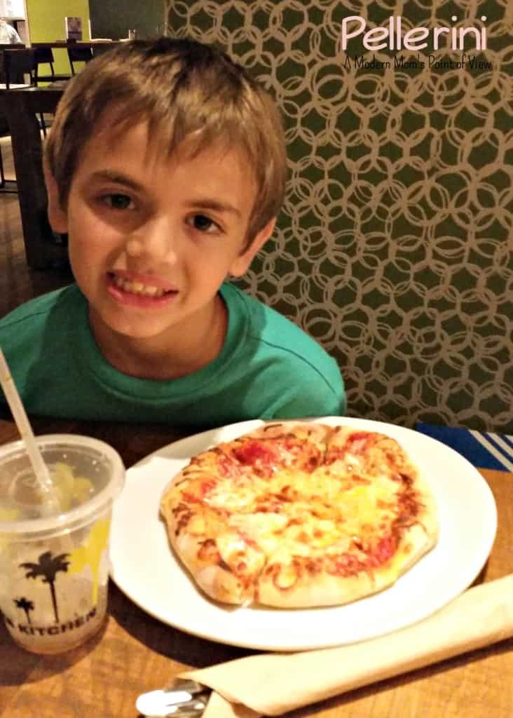 G and his CPK personal pizza