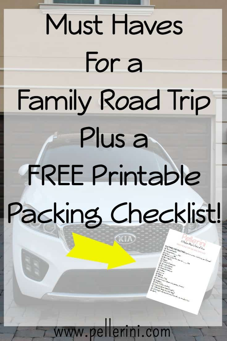 Must Haves for a family road trip plus a free printable packing checklist
