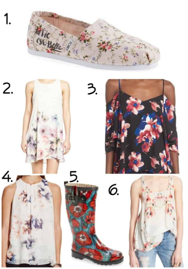 Spring FASHION Trends - Florals Numbered