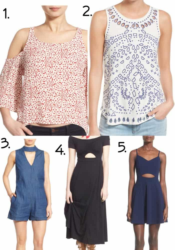 Spring fashion trends cutout