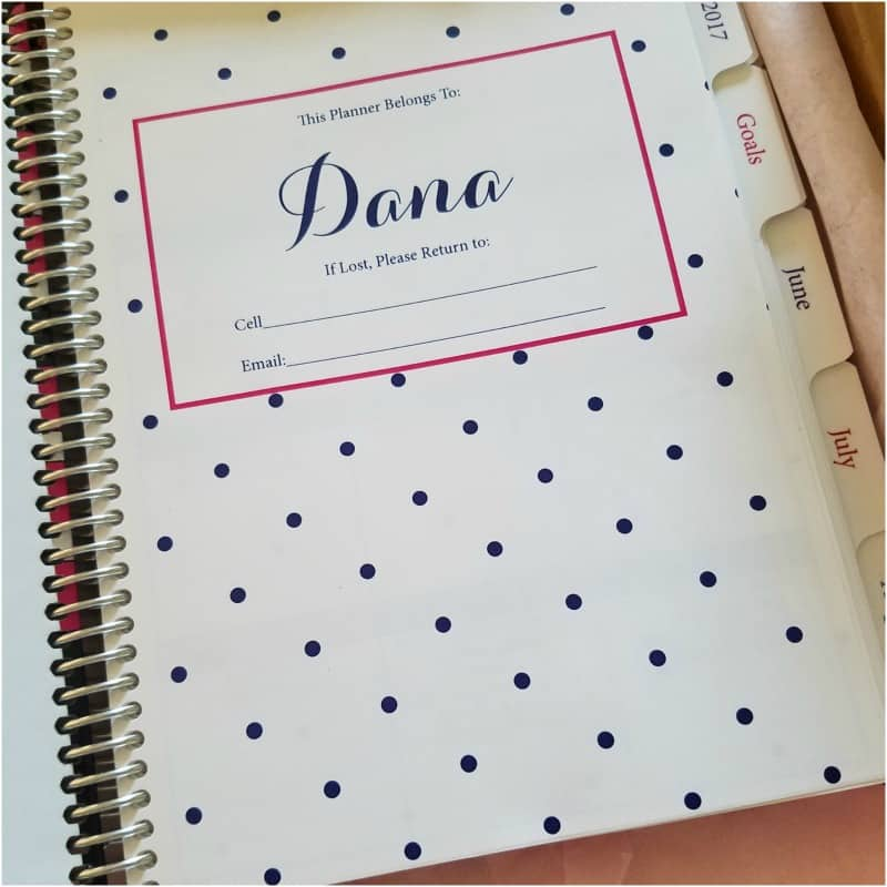 Simply Yours Planner Interior