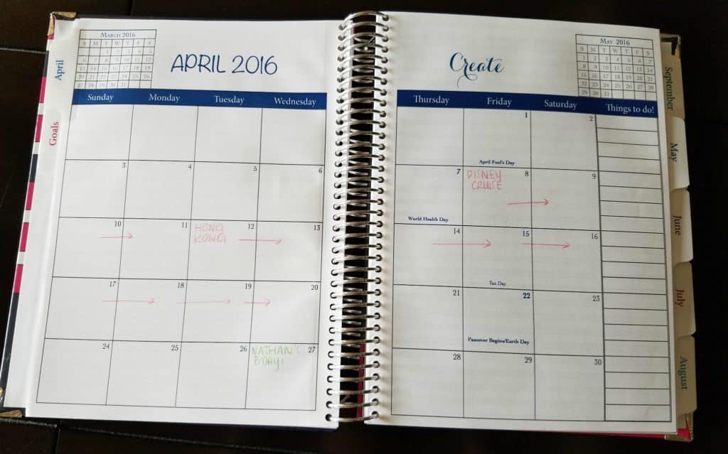 Simply Yours Planner Month