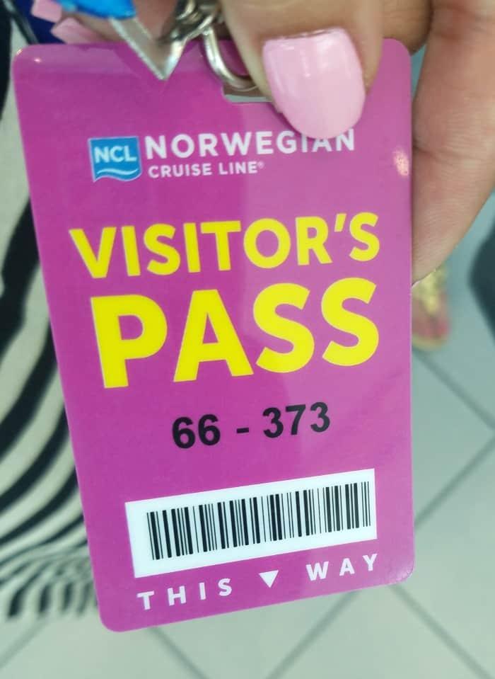 Norwegian Cruise Line Visitor Pass
