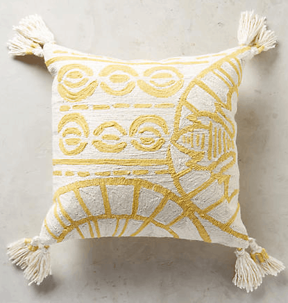 Anthrolopogie Fresh Cuts Rocio Embroidered Pillow