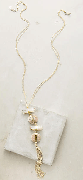 Anthropologie Fresh Cuts Pendant Necklace