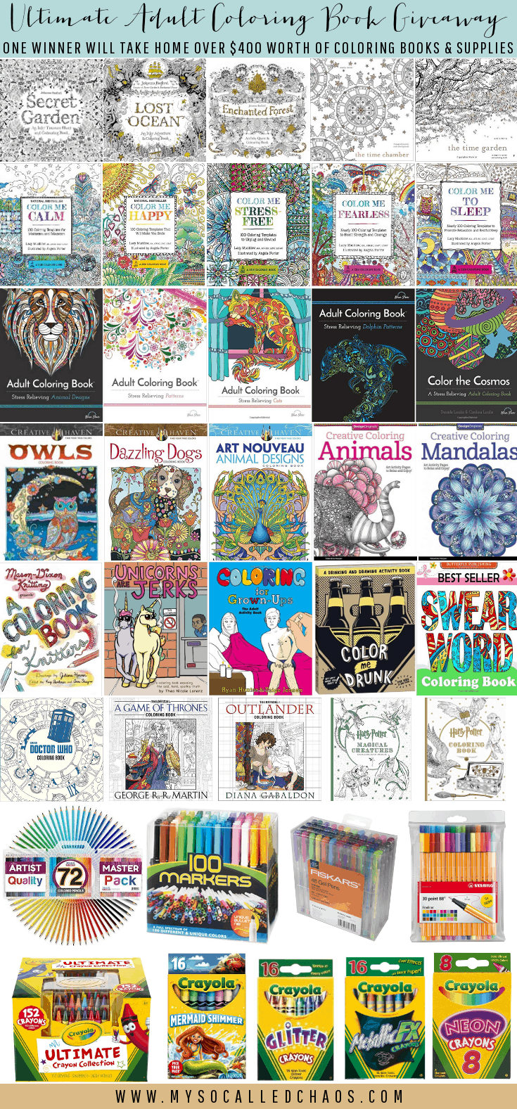 GIVEAWAY TIME: Adult Coloring Book Giveaway!