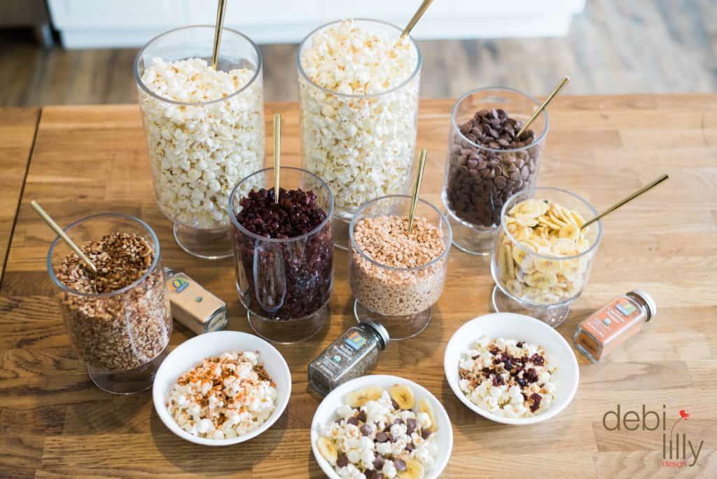 Debi Lilly Fall Themed Party Popcorn Bar