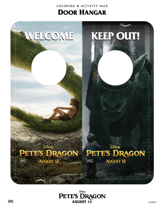 Petes Dragon Door Hanger Printable