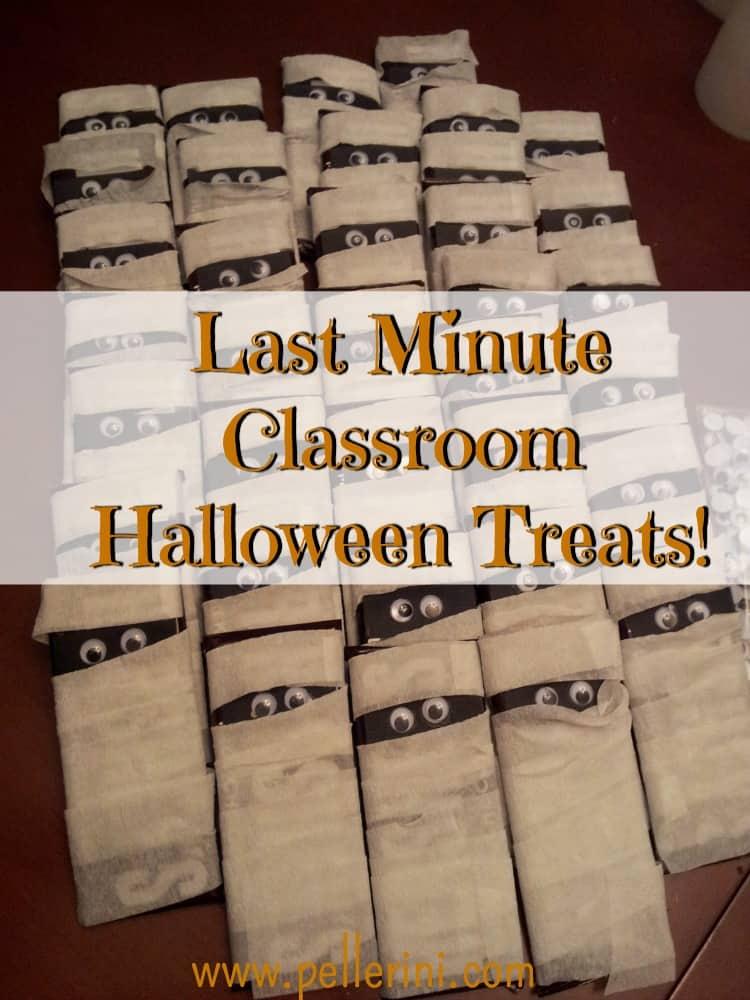 Last Minute Classroom Halloween Treats